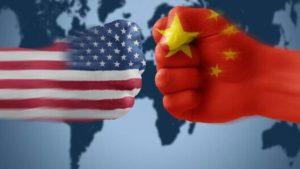 中国美国五星红旗星条旗