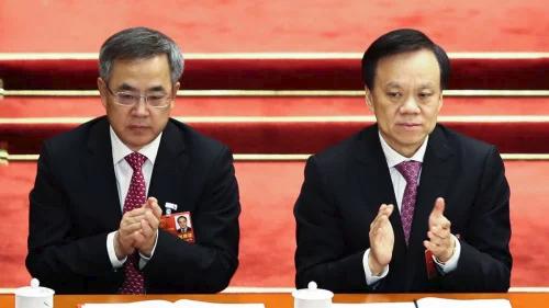 胡春华(左)和陈敏尔(右)