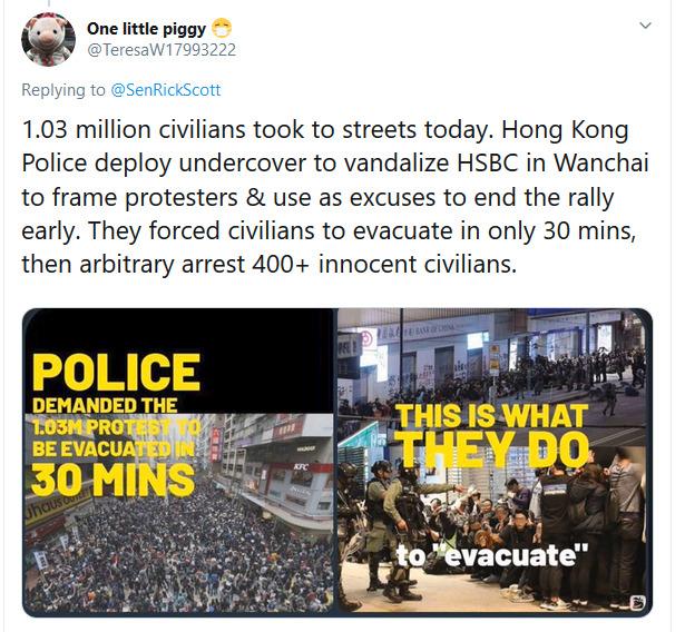 1.03万香港人上街要求真普选