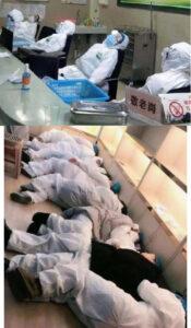 武汉肺炎一线医护人员照片流出