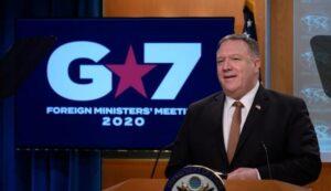 美卿蓬佩奥:G7一致认为 中国共产党就疫情发动假讯息攻势。(ANDREW CABALLERO-REYNOLDS/AFP via Getty Images)