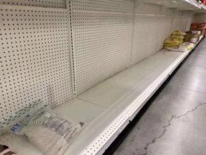 华人囤货维拉mart超市空了