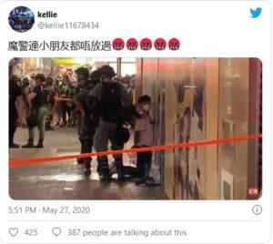 警察对5岁孩童执法