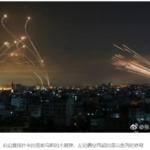 哈马斯3000枚导弹射向以色列,以色列铁穹系统反击