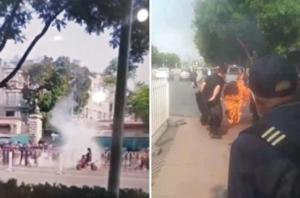 北京国家信访局门口 男子汽油浇身自焚